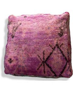 purple moroccan berber pouf