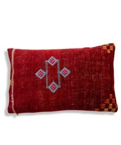 red pillow moroccan cushion