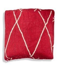 Moroccan kilim pouf red berber