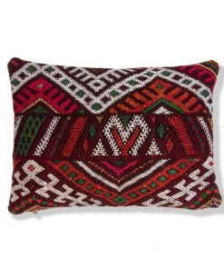 moroccan berber pillow red