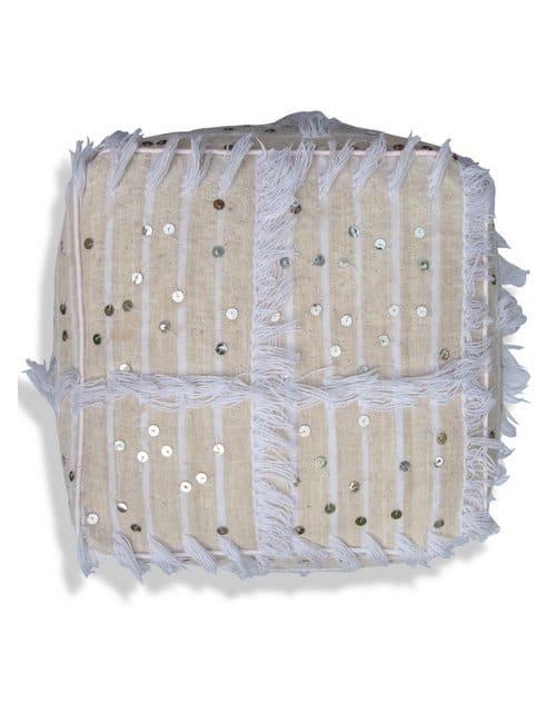 square pouf handira moroccan kilim