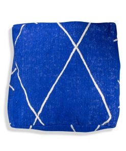 kilim pouf blue moroccan cushion