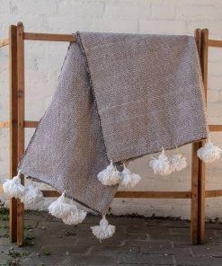 moroccan blankets pompom