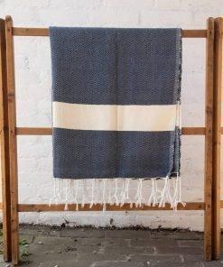 blanket tassels light blue
