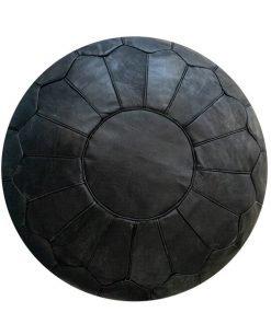 black ,moroccan pouf ottoman