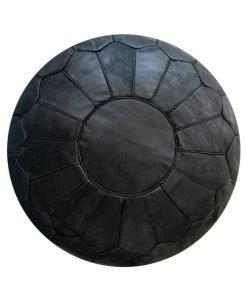 moroccan black pouf