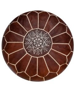 honey cognac moroccan pouf