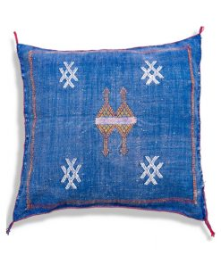 blue sabra pillow cushion handwoven
