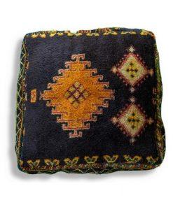 berber black kilim pouf