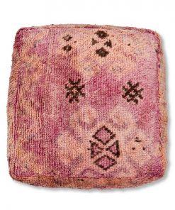 kilim berber pouf vintage pink