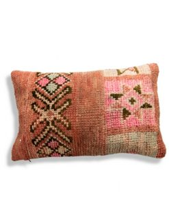 pink pillow wool berber