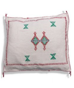 moroccan white sabra pillow