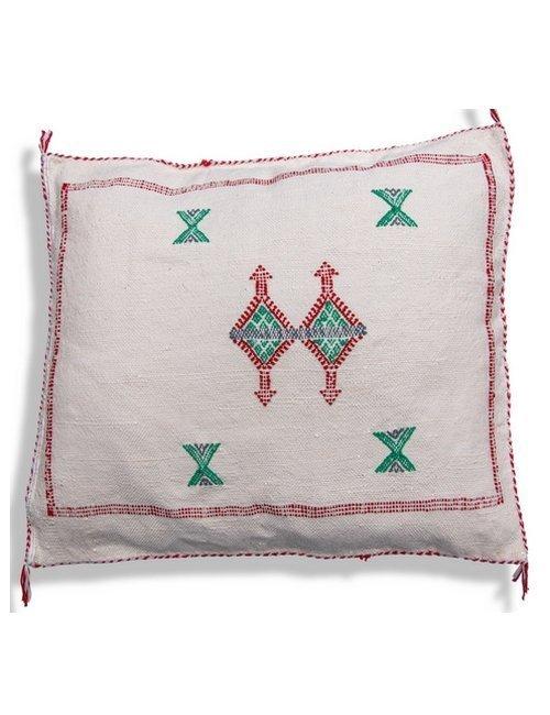 moroccan white sabra pillow