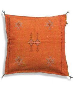 orange sabra silk cushion