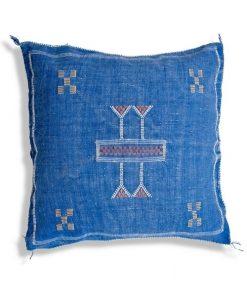 blue sabra silk cushion pillow