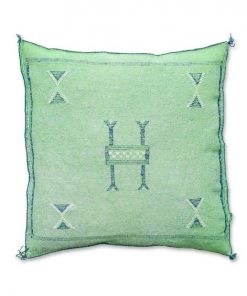 moroccan sabra pillow light green