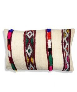 moroccan pillow beige berber cushion