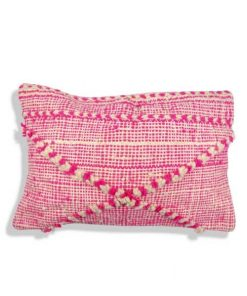 berber cushion pink moroccan wool