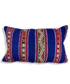 blue moroccan berber pillow multicolore