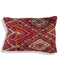 moroccan red pillow red