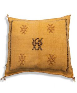 yellow sabra silk cushion