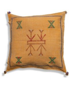yellow sabra pillow cushion berber