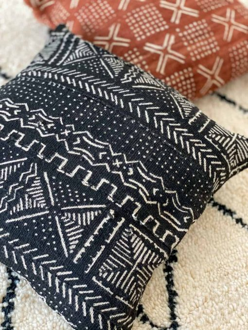 black african mudcloth pillow