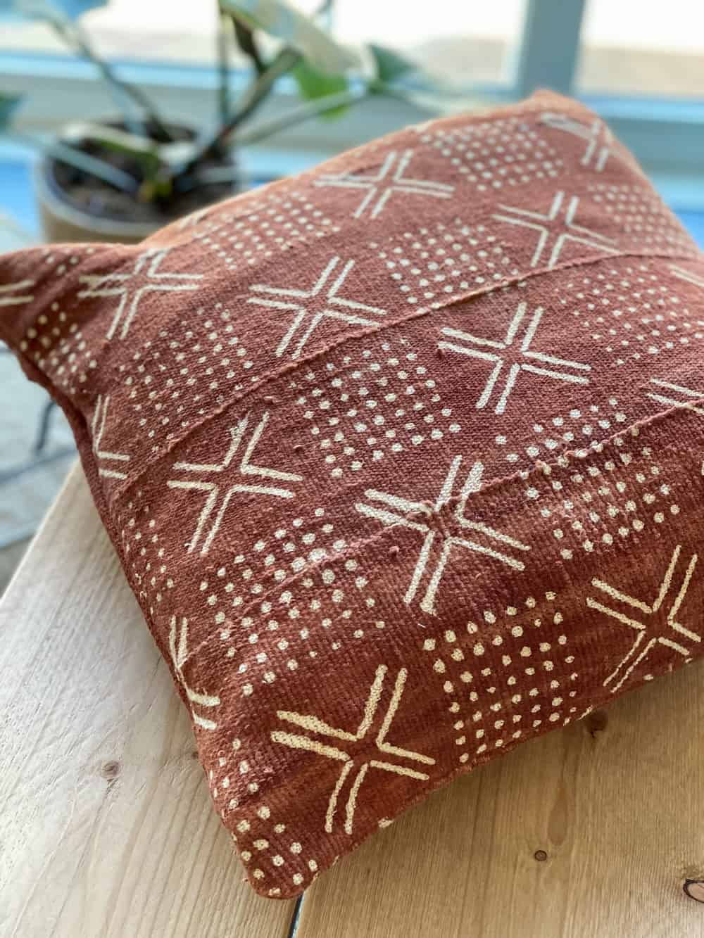mudcloth brown african pillow