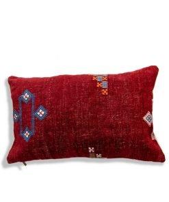 moroccan red berber pillow