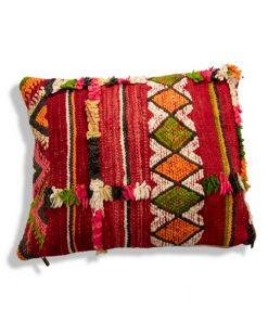 moroccan vintage berber pillow rainbow