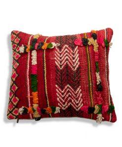red moroccan berber pillow