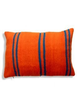orange berber pillow handmade