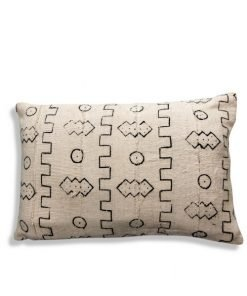 african mudclother pillow white and black