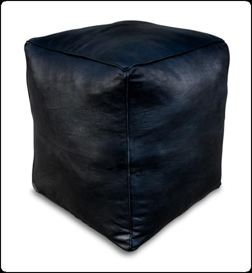 Square pouf black