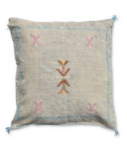 moroccan sabra pillow light grey