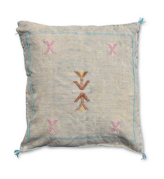 moroccan sabra pillow light grey