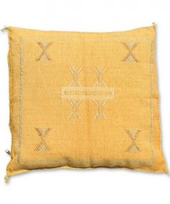 moroccan sabra pillow light yellow