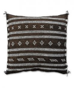 moroccan sabra pillow brown