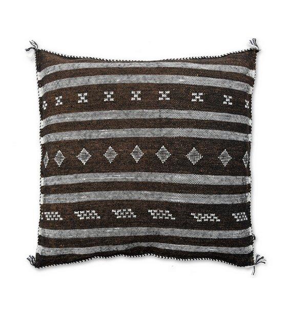 moroccan sabra pillow brown