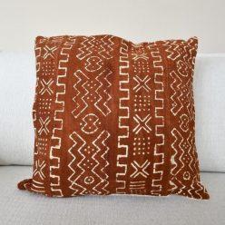 brown mudcloth pillow