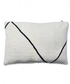berber pillow beni ourain white