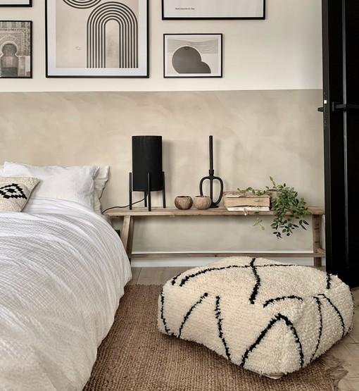 moroccan beni ourain floor cushion