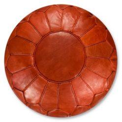 premium copper brown pouf