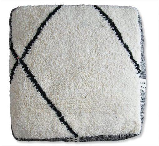 berber kilim pouf zanafi side