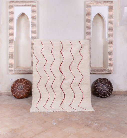 berber rug with poufs