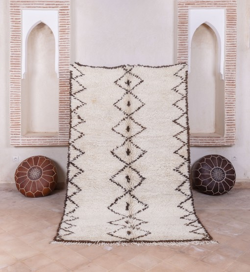 berber rug beni ourain with poufs
