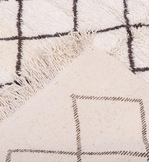 berber rug beni ourain behind