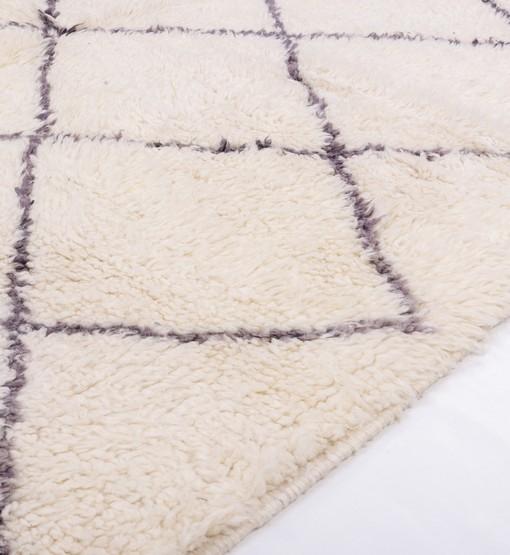 berber beni ourain rug behind
