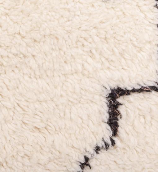 berber rug beni ourain detail