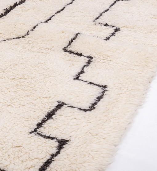berber rug beni ourain side